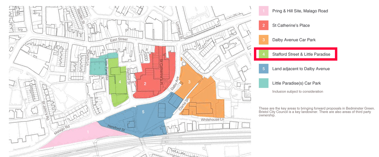 Site location within the Bedminster Green Framework area